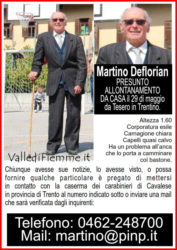 martino deflorian cavalese scomparso fiemme Troviamo Martino Deflorian scomparso da Tesero