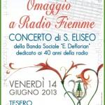 """omaggio a radio fiemme tesero 150x150 Tesero 16° rassegna con la Banda Sociale """"Erminio Deflorian"""
