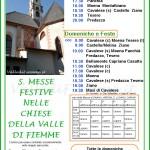 orari messe estate 2013 valle di fiemme1 150x150 I Sindaci di Ziano, Castello   Molina, Carano e Cavalese vietano fuochi dartificio e petardi