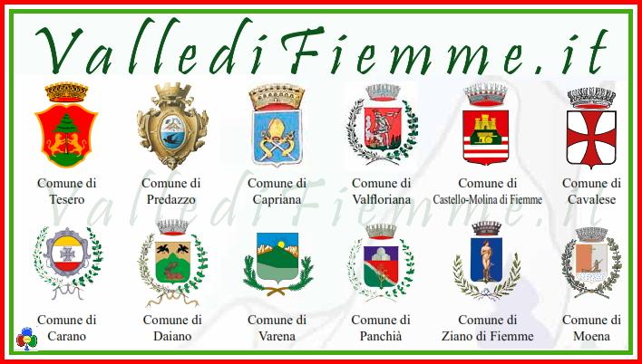 stemmi comuni valle di fiemme italia Fiemme, gestione associata delle entrate dal primo luglio 2013