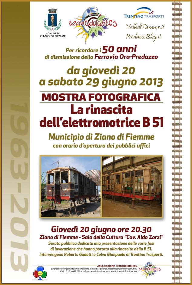treno a ziano di fiemme predazzo blog Ziano di Fiemme, in mostra la rinascita del treno B51