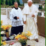 giovanni paolo II a tesero vittime stava fiemme 150x150 Tesero, cittadinanza onoraria al cardinal Stanislaw Dziwisz