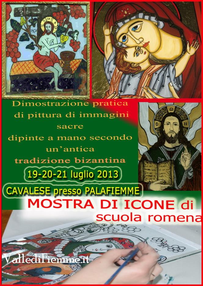 icone scuola romena cavalese fiemme Cavalese, mostra e laboratorio di iconografia di Scuola Romena