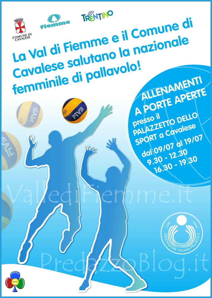 nazionale pallavolo femminile a cavalese La Nazionale Femminile di Pallavolo è in Valle di Fiemme