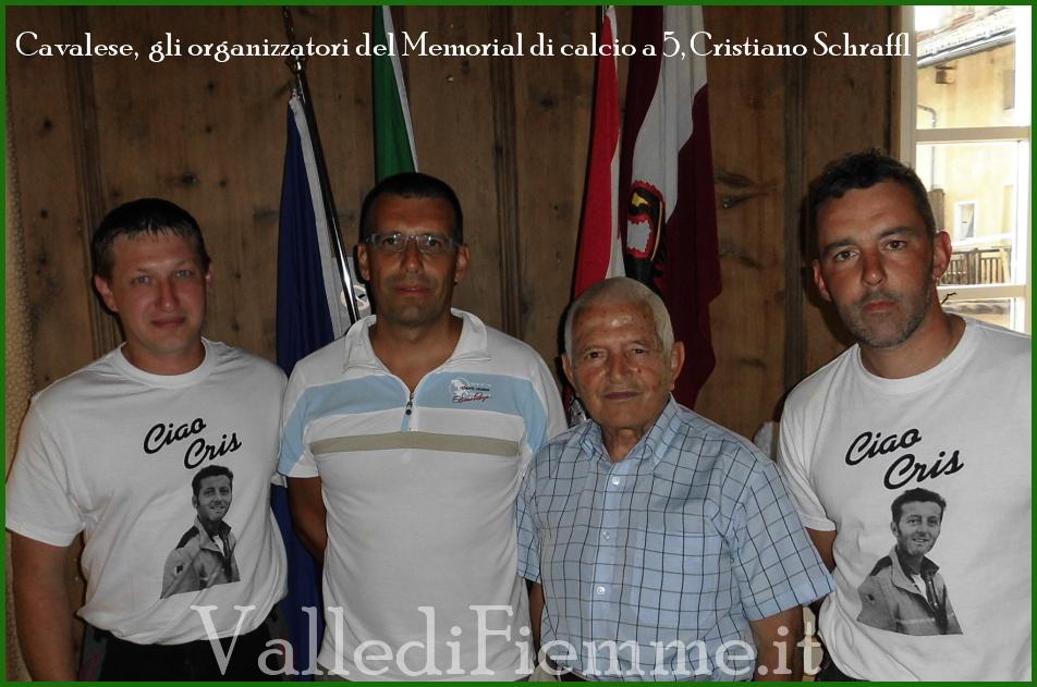 organizzatori memorial cavalese Cavalese, il Memorial Cristiano Schraffl solidale con lAnffas