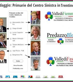 sondaggio primarie centro sinistra in trentino 2013 fiemme fassa predazzo