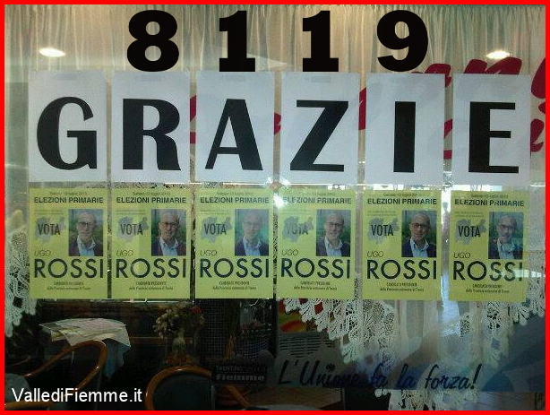 ugo rossi patt trentino 8119 grazie valle di fiemme Ugo Rossi ringrazia i sostenitori della Valle di Fiemme