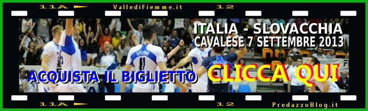 biglietto partita italia slovacchia per mirandola fiemme Cavalese, amichevole solidale di pallavolo: Italia   Slovacchia