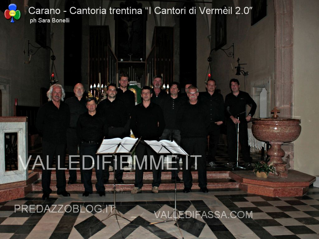 "carano corale Cantoria trentina ""I Cantori di Vermèil 2.0″1 Cantoria trentina I Cantori di Vermèil 2.0: magie vocali a Carano"