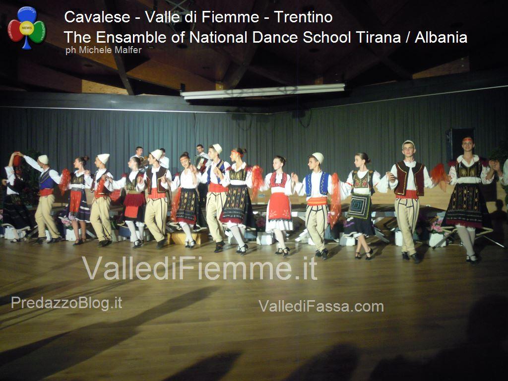 cavalese The Ensamble of National Dance School Tirana Albania fiemme 20131 Cavalese, successo per la Scuola di Danza di Tirana / Albania
