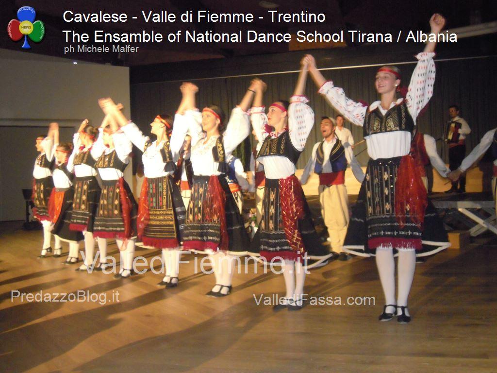 cavalese The Ensamble of National Dance School Tirana Albania fiemme 20132 Cavalese, successo per la Scuola di Danza di Tirana / Albania