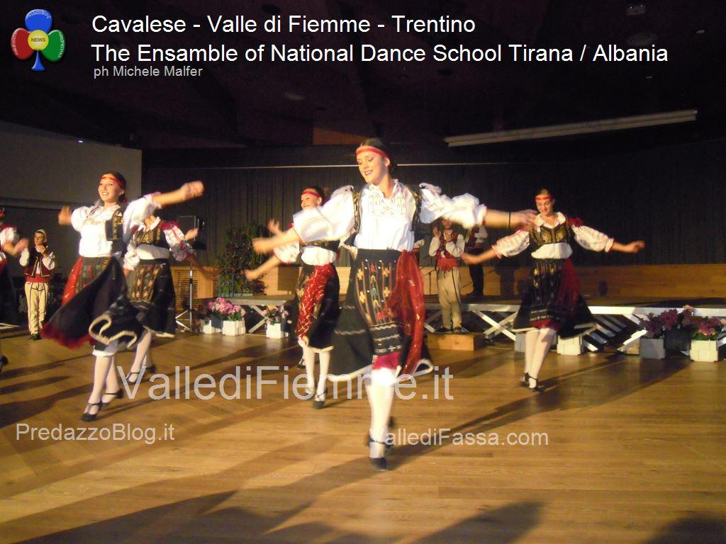 cavalese The Ensamble of National Dance School Tirana Albania fiemme 20133 Cavalese, successo per la Scuola di Danza di Tirana / Albania