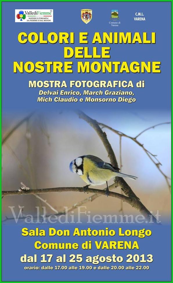mostra fotografica varena fiemme animali e montagne Varena, mostra fotografica Colori e Animali delle nostre Montagne