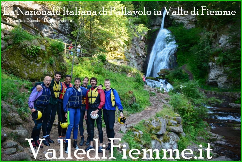 nazionale italiana di pallavolo 1 in valle di fiemme 2013 1024x686 La ciurma di Berruto solca lAvisio   GIORNATA ACQUATICA DELLA NAZIONALE DI PALLAVOLO IN RITIRO IN VAL DI FIEMME