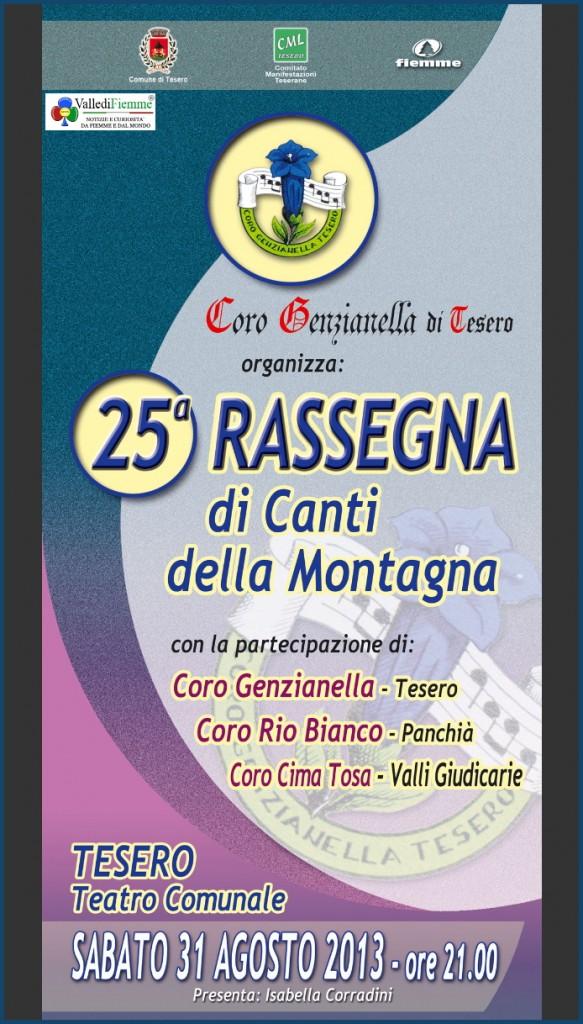 rassegna coro genzianella tesero 583x1024 Tesero, 25° rassegna canti di montagna