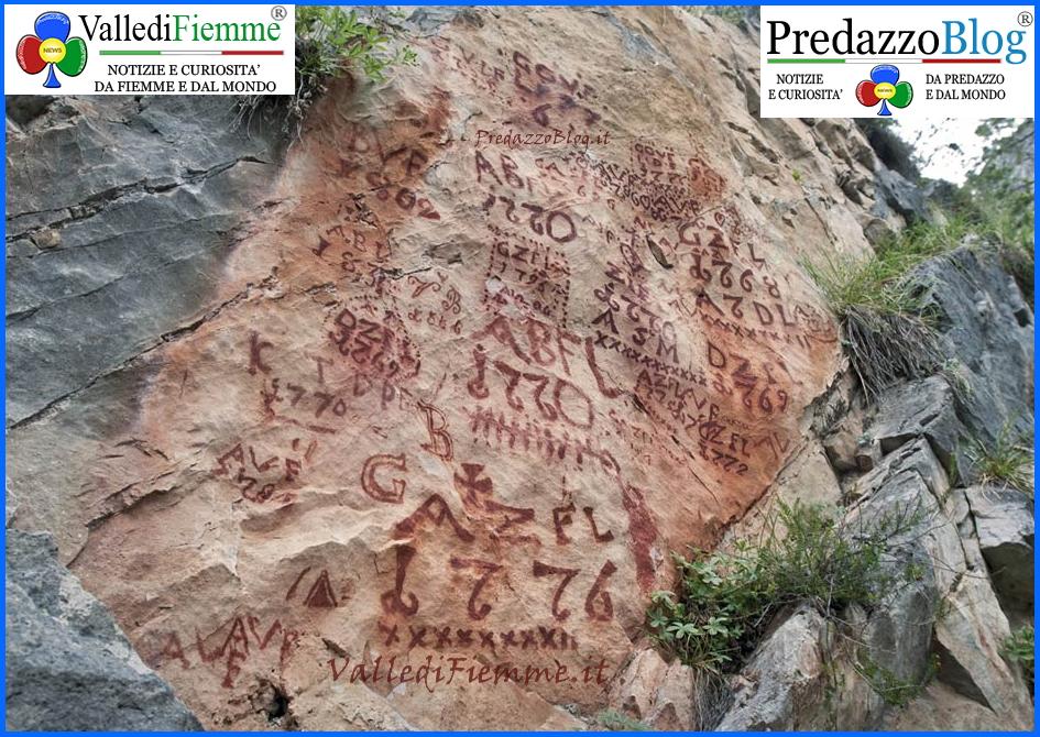 scritte pastori fiemme Tesero, Le scritte dei pastori in Valle di Fiemme