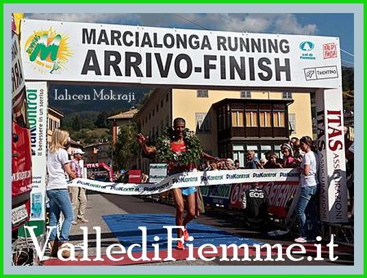 arrivo marcialonga running 2013 a cavalese Marcialonga Running 2013, vince Iahcen Mokraji   foto e classifiche