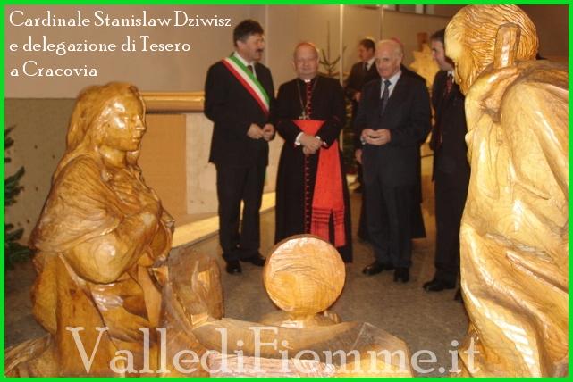 cardinal stanislaw dziwisz cracovia tesero fiemme Tesero, cittadinanza onoraria al cardinal Stanislaw Dziwisz