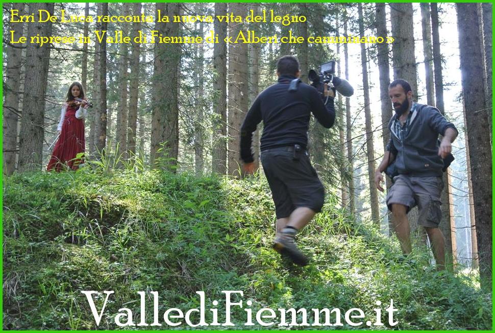 erri de luca in valle di fiemme per film alberi che camminano Fiemme è il set delle riprese di «Alberi che camminano» con Erri de Luca