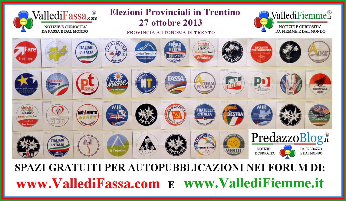 r04kk elezioni provinciali 2013 loghi e spazi gratuiti su siti fiemme fassa  Elezioni Provinciali del Trentino aperti 2 spazi web gratis