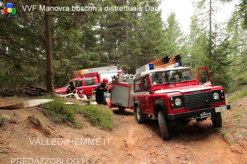 ManovraBoschiva Daiano14 Varena, Albino Defrancesco ustionato durante le manovre VVF
