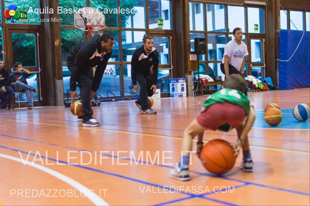 aquila basket cavalese fiemme1 Val di Fiemme Basket a canestro con i campioni di serie A