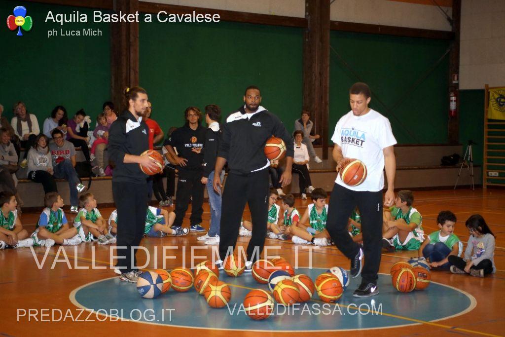 aquila basket cavalese fiemme3 Val di Fiemme Basket a canestro con i campioni di serie A