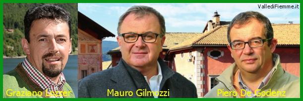 graziano lozzer mauro gilmozzi piero de godenz fiemme Gilmozzi, De Godenz e Lozzer, i tre moschettieri di Fiemme in Provincia