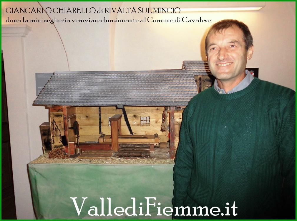 segheria veneziana cavalese fiemme La mini segheria veneziana in dono al Comune di Cavalese
