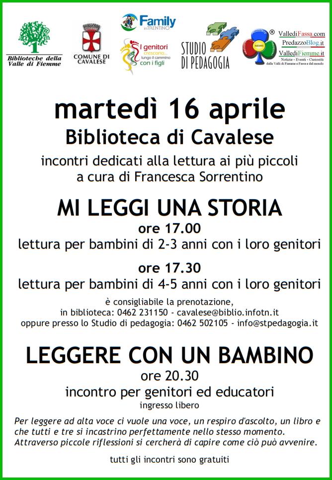 biblioteca cavalese fiemme locandina3 4 Appuntamenti organizzati dalla Biblioteca di Cavalese