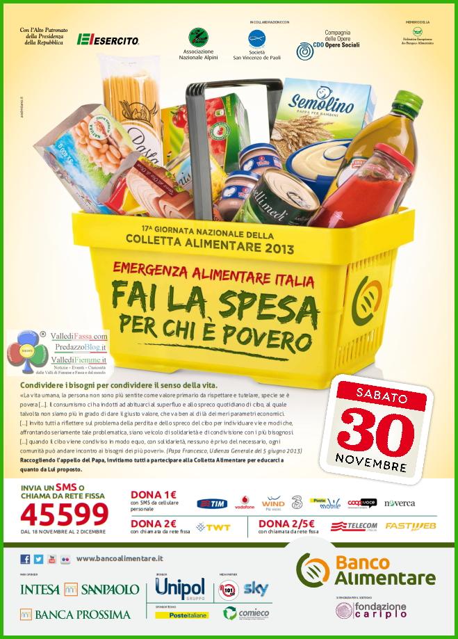 colletta alimentare fiemme fassa 17° Giornata Nazionale della COLLETTA ALIMENTARE