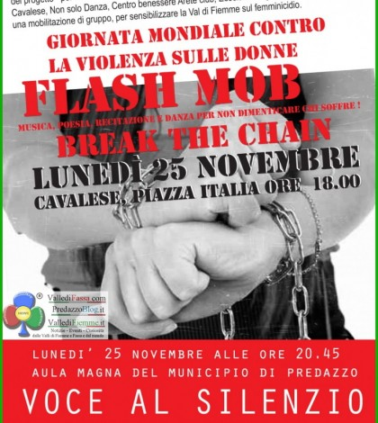 flash mob cavalese violenza donne