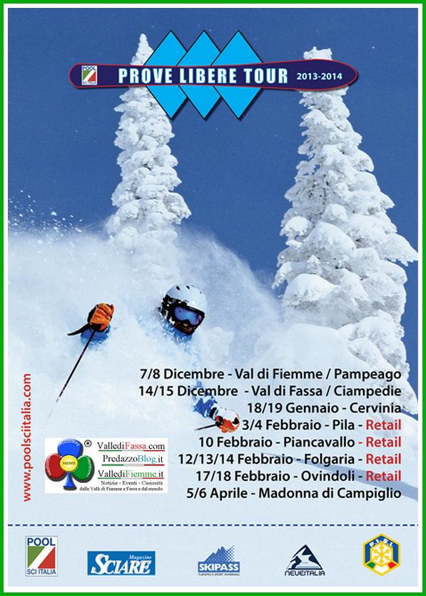 prove libere ski tour pampeago fiemme 2013 Pampeago lo Ski Test delle aziende del Pool Sci Italia Prove Libere Tour