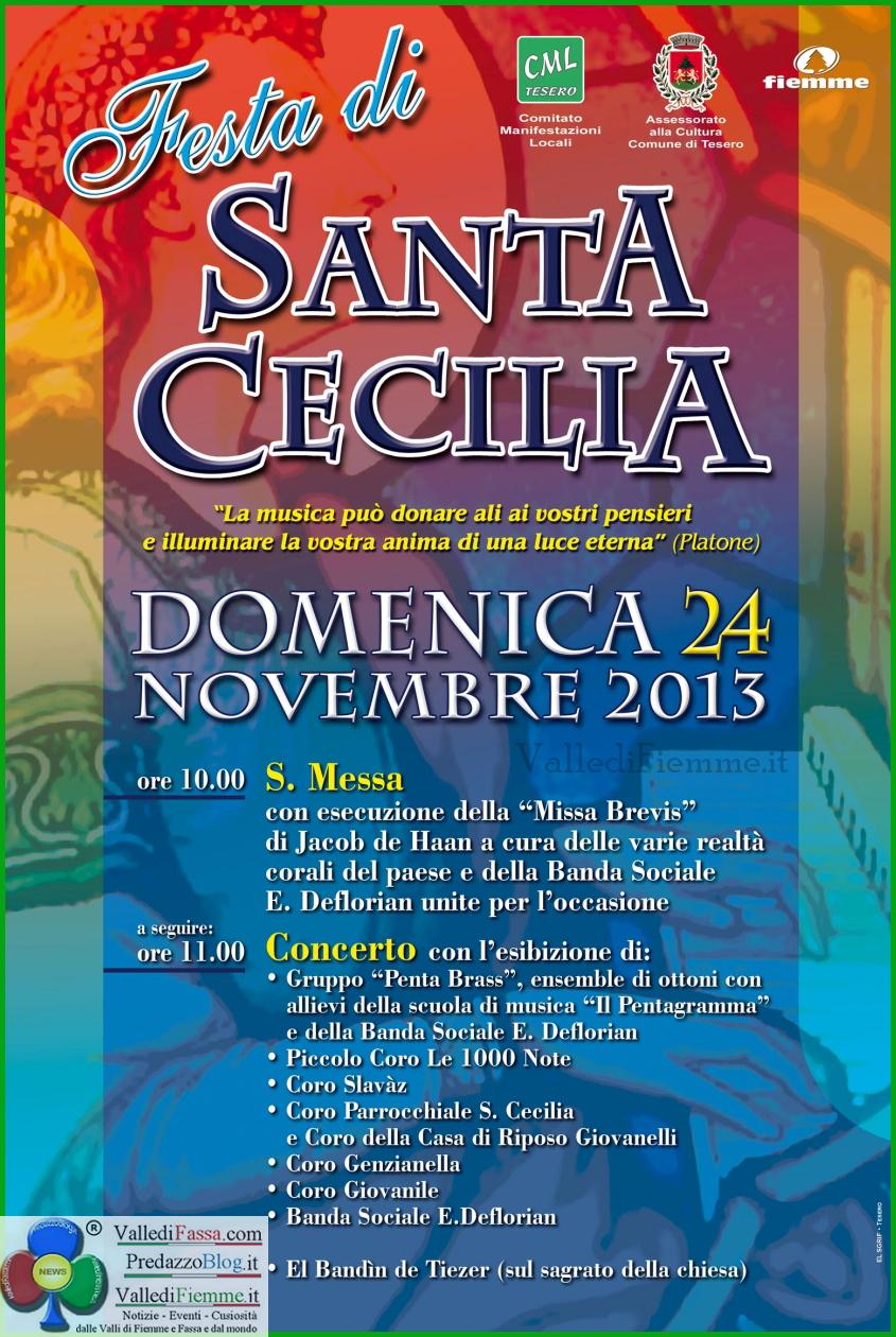 santa cecilia tesero fiemme Tesero, festa di Santa Cecilia con 8 gruppi musicali