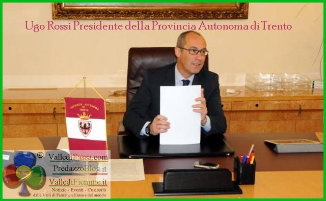 ugo rossi presidente provincia trento La nuova giunta di Ugo Rossi   Mauro Gilmozzi ai lavori pubblici