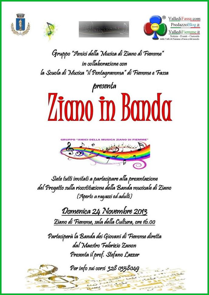 ziano in banda fiemme Ziano in Banda incontro per ricostituire la Banda a Ziano di Fiemme