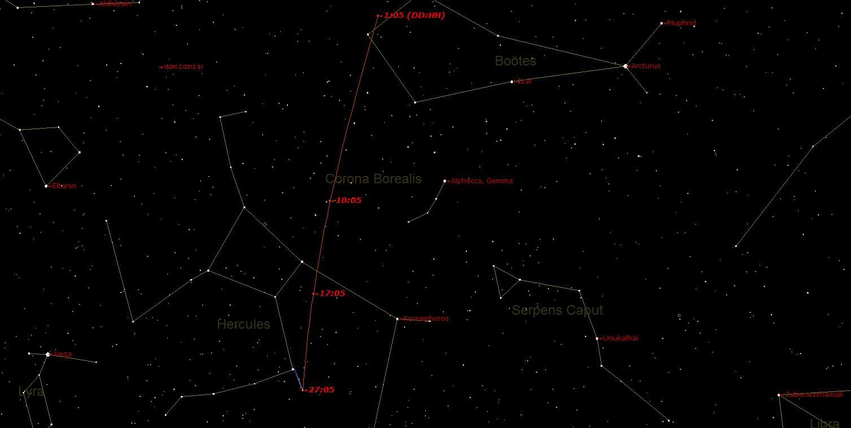 Lovejoy 1 27 dice13ore5am Laltra cometa. Spettacoli e drammi nel cielo.