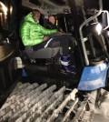 Balotelli sul gatto delle nevi a Pampeago con Maurizio Zanon - FIEMME