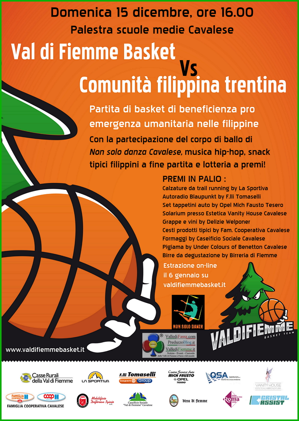 basket fiemme Cavalese, partita di beneficienza Basket Fiemme / Comunità Filippina Trentina