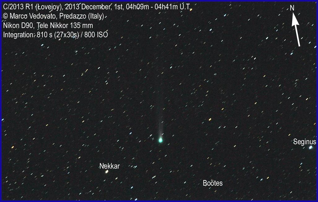 cometa ison marco vedovato astrofili fiemme Laltra cometa. Spettacoli e drammi nel cielo.