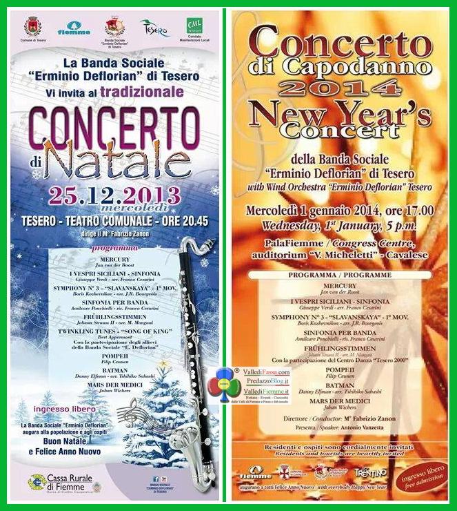 concerti banda tesero natale capodanno Banda Sociale di Tesero in concerto a Natale e Capodanno   video trailer