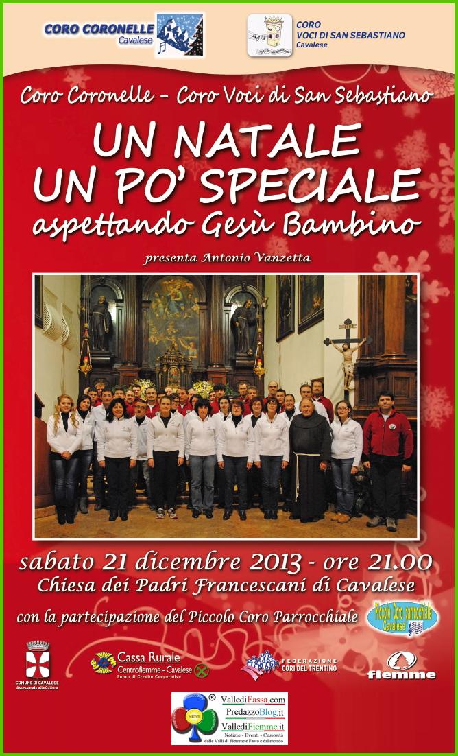 coro coronelle concerto natale manifesto Cavalese, Un Natale un po speciale con i Cori Coronelle e Voci di S.Sebastiano
