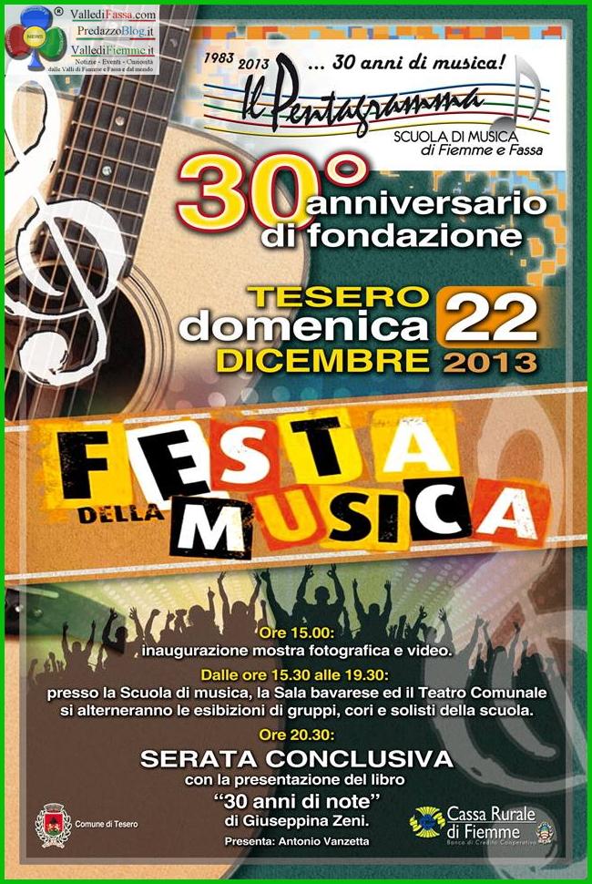 festa della musica tesero fiemme Tesero, Festa della Musica per il 30° della Scuola il Pentagramma
