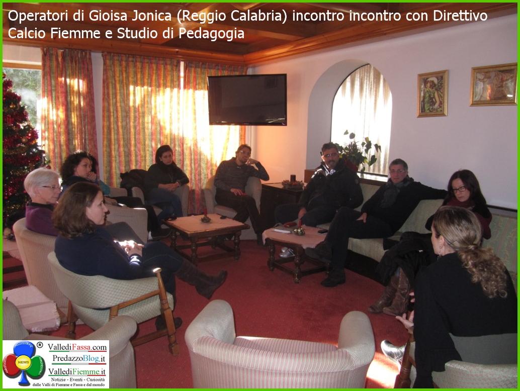 operatori gioiosa ionica a cavalese calcio fiemme Cavalese, visite e workshop degli operatori di Gioiosa Jonica