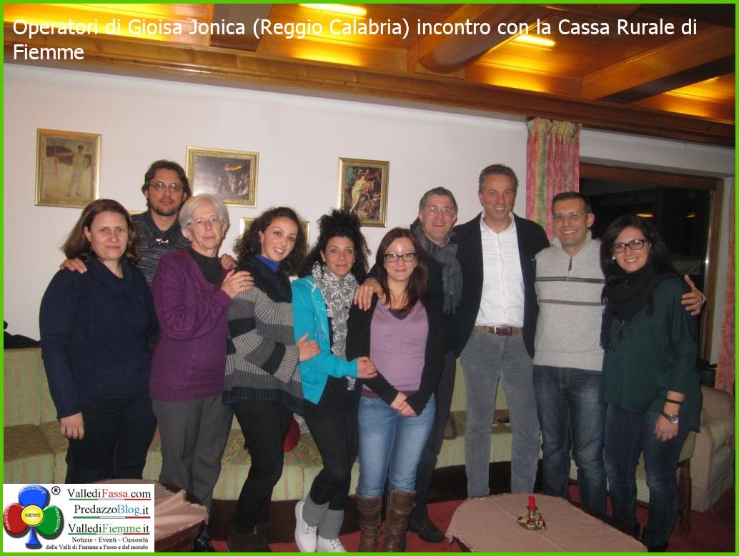 operatori gioiosa ionica a cavalese cassa rurale di fiemme Cavalese, visite e workshop degli operatori di Gioiosa Jonica