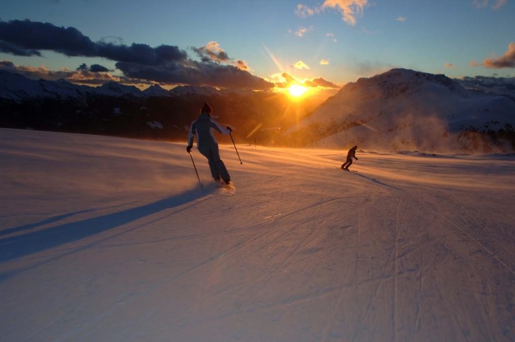 Val di Fiemme trentinoskisunrise 1024x680 Alpe Cermis, assaporare lalba fra mille sfumature di neve. 11 gennaio da #TrentinoSkiSunRise