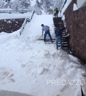 nevicata in fiemme e fassa 31.1.201428