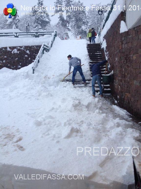 nevicata in fiemme e fassa 31.1.201428 Scuole chiuse per neve in Valle di Fiemme