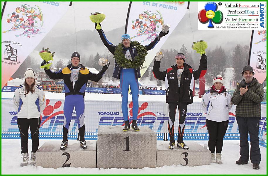 podio trofeo topolino allievi 2014 33° Trofeo Topolino Sci di Fondo 23 24 gennaio