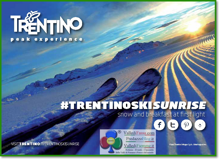 trentino ski sunrise 1 LAlba sul Cermis di Trentino Ski Sunrise, il servizio TG1